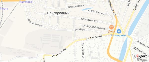 Улица Трусова на карте села Солянки Астраханской области с номерами домов