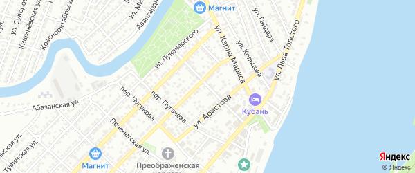 Переулок Степана Разина на карте Астрахани с номерами домов