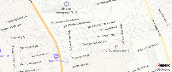 Техническая улица на карте Астрахани с номерами домов