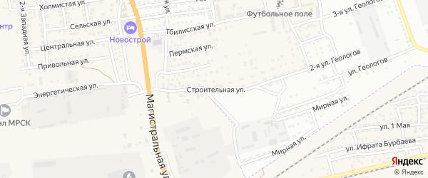 Строительная улица на карте села Солянки Астраханской области с номерами домов