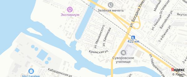 Тукая улица на карте Астрахани с номерами домов