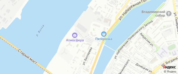 Искристый 2-й переулок на карте Астрахани с номерами домов