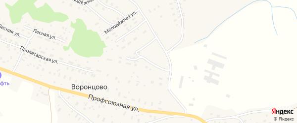 Молодежная улица на карте железнодорожной станции Кивера с номерами домов
