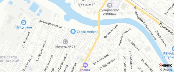 Маршанская улица на карте Астрахани с номерами домов