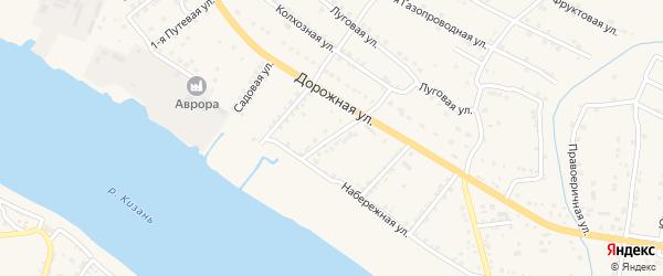 Улица Чапаева на карте села Яксатово Астраханской области с номерами домов