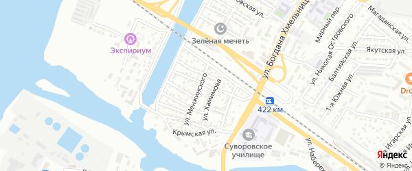 Улица Нагибина на карте Астрахани с номерами домов
