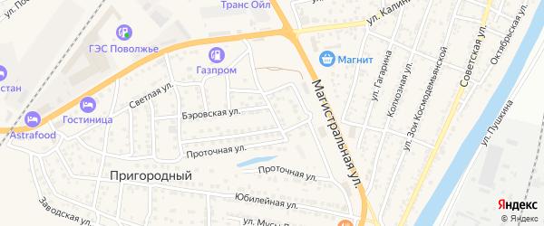 Садовая улица на карте села Солянки Астраханской области с номерами домов