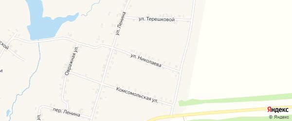Улица Николаева на карте деревни Старые Урмары с номерами домов
