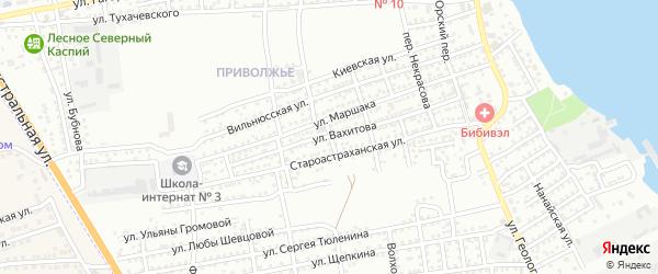 Переулок Александра Невского на карте Астрахани с номерами домов