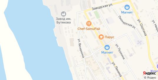 Улица Вечеркина в Звенигово с номерами домов на карте. Спутник и схема онлайн