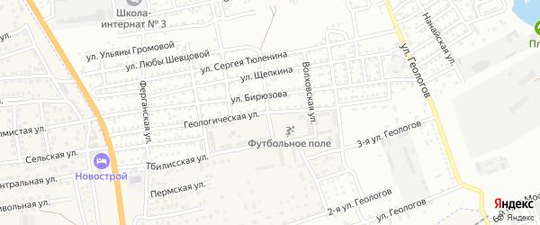 Геологическая улица на карте села Солянки Астраханской области с номерами домов