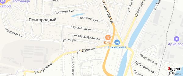 Улица М.Джалиля на карте села Солянки Астраханской области с номерами домов