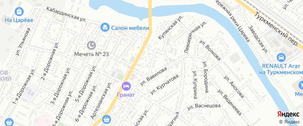 Улица Гастелло на карте Астрахани с номерами домов