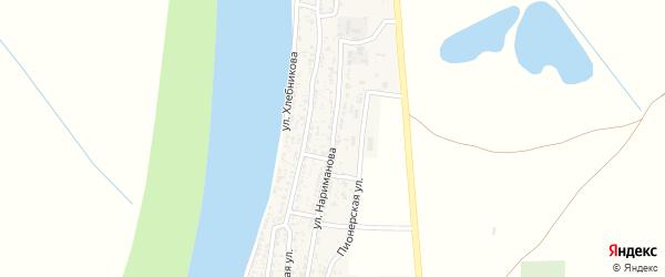 Улица Нариманова на карте села Образцово-Травино Астраханской области с номерами домов