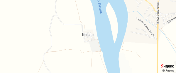 Карта поселка Кизань в Астраханской области с улицами и номерами домов