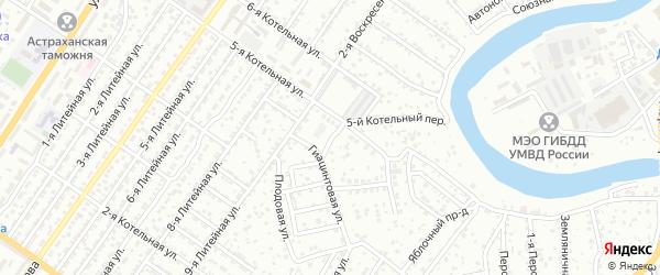 Ромашковая улица на карте Астрахани с номерами домов