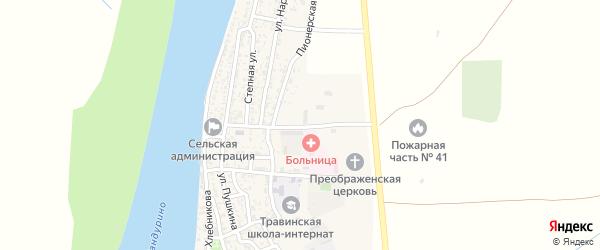 Юбилейная улица на карте села Образцово-Травино Астраханской области с номерами домов