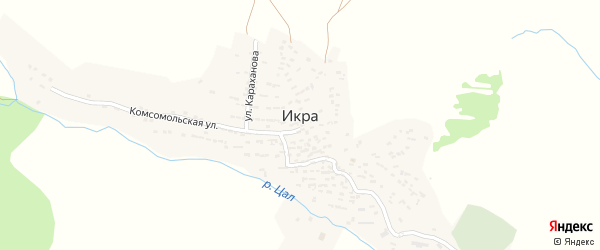 Улица Ражидина Гайдарова на карте села Икры Дагестана с номерами домов