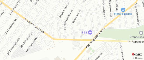 1-й Грушевый переулок на карте Астрахани с номерами домов