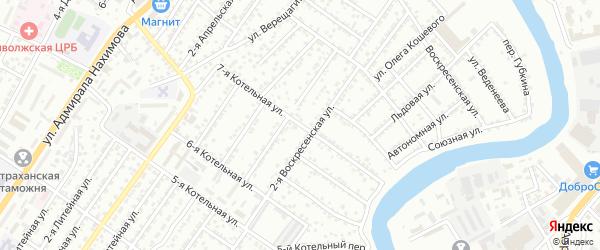Котельная 7-я улица на карте Астрахани с номерами домов