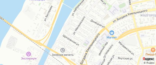 Неманская улица на карте Астрахани с номерами домов