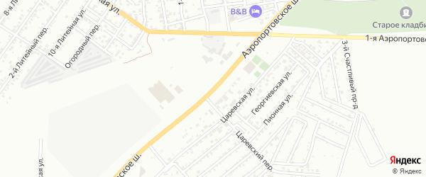 Улица Аэропортовское шоссе на карте Астрахани с номерами домов