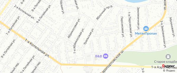 Уральская улица на карте Астрахани с номерами домов