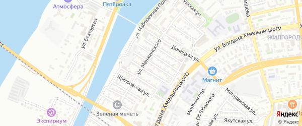 Дунайская улица на карте Астрахани с номерами домов