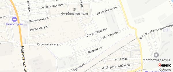 Улица Геологов на карте села Солянки Астраханской области с номерами домов