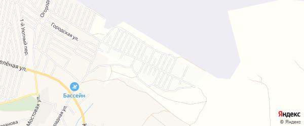 Садовое товарищество сдт Дружба на карте села Карагали Астраханской области с номерами домов