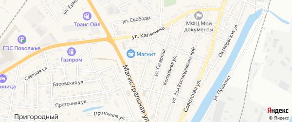 Луговая улица на карте села Солянки Астраханской области с номерами домов