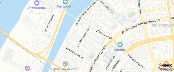 Симферопольская улица на карте Астрахани с номерами домов