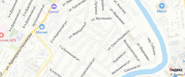 Котельная 8-я улица на карте Астрахани с номерами домов