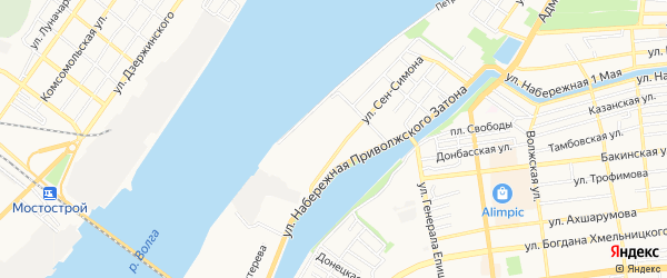 ГСК N30 Эллинг на карте Астрахани с номерами домов