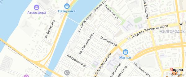 Харьковская улица на карте Астрахани с номерами домов