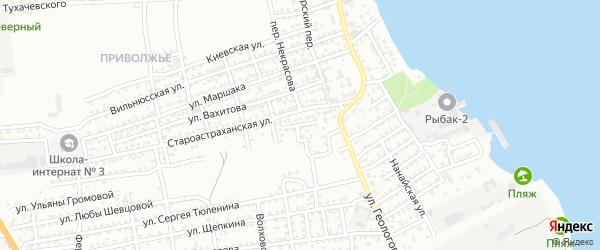 Улица Егорова на карте Астрахани с номерами домов
