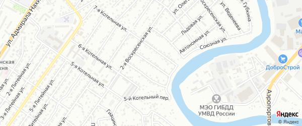 Котельный 7-й переулок на карте Астрахани с номерами домов