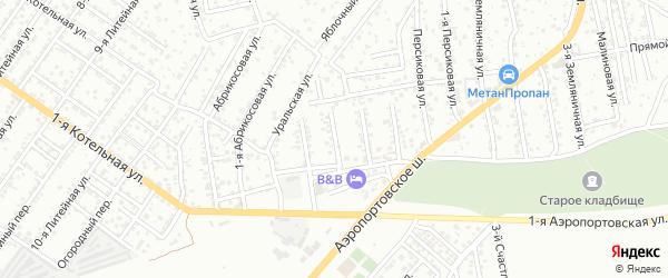 1-й Виноградный переулок на карте Астрахани с номерами домов