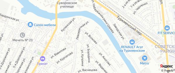 Галийский 2-й переулок на карте Астрахани с номерами домов