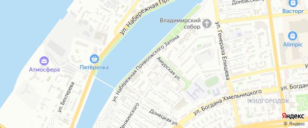Улица Коперника на карте Астрахани с номерами домов