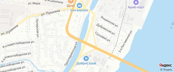 Улица Пушкина на карте села Солянки Астраханской области с номерами домов