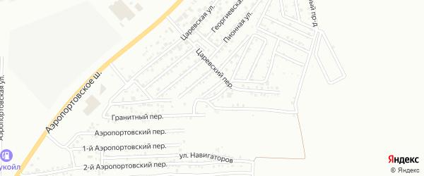 Царевская 4-я улица на карте Астрахани с номерами домов