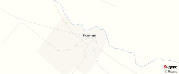 Карта Ровного поселка в Саратовской области с улицами и номерами домов
