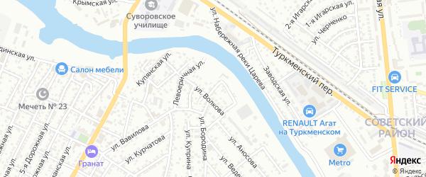 3-й Галийский переулок на карте Астрахани с номерами домов