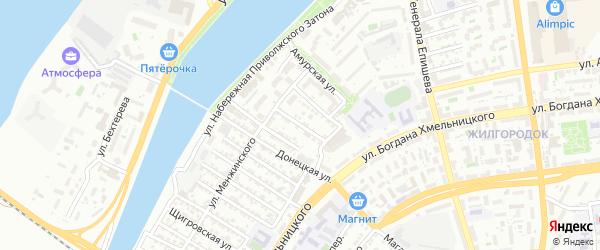 Уфимская улица на карте Астрахани с номерами домов