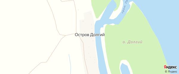 Лесная улица на карте Острова Долгого поселка Астраханской области с номерами домов