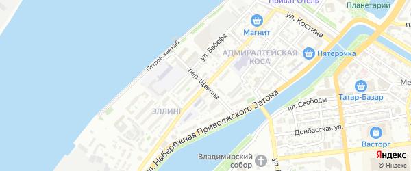 Улица Сен-Симона на карте Астрахани с номерами домов
