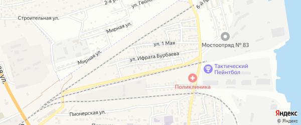 Железнодорожная улица на карте села Солянки Астраханской области с номерами домов