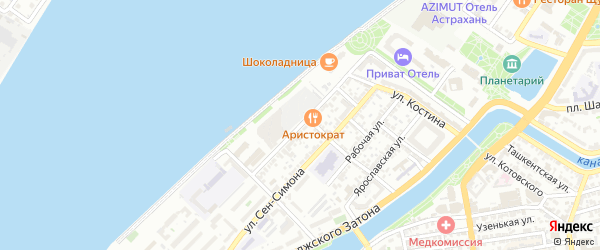 Улица Бабефа на карте Астрахани с номерами домов