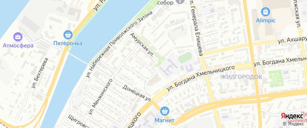 Севастопольский переулок на карте Астрахани с номерами домов